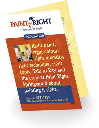 Paint Right Springwood brochure
